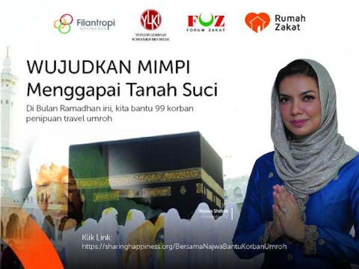 Sharing Happiness Bersama Najwa Shihab Bantu 99 Korban Penipuan